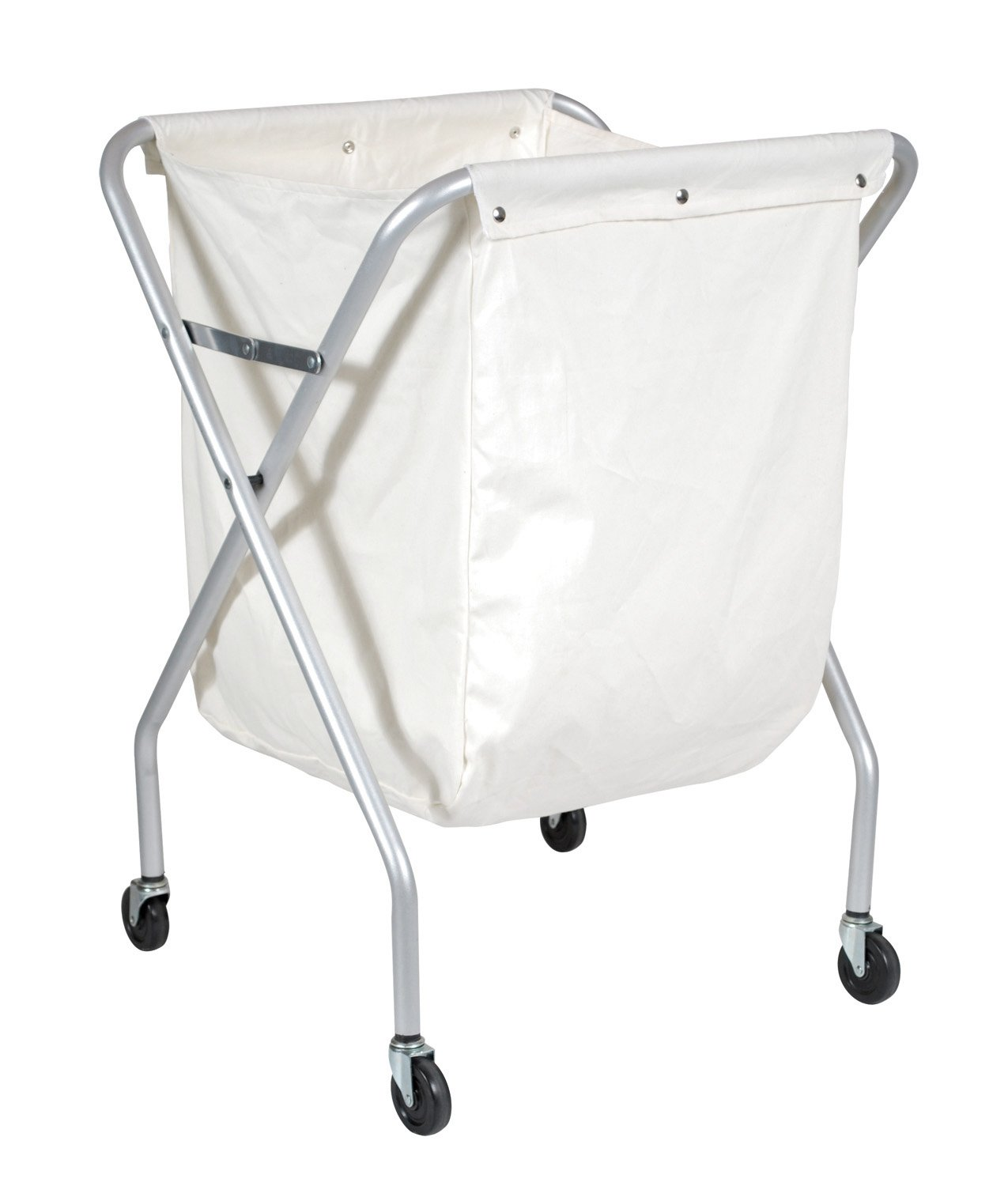 Ex-Cell Kaiser 460 W CHR Laundry Caddy Steel Laundry Waste Collector, 24-1/2'' Length x 21-1/4'' Width x 35'' Height