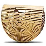 Alma Bamboo Bag - Medium Size Ark Clutch Basket Bag For Women