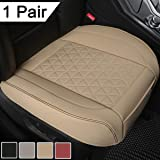 Black Panther 1 Pair Luxury PU Leather Car Seat Covers Protectors for Front Seat Bottoms