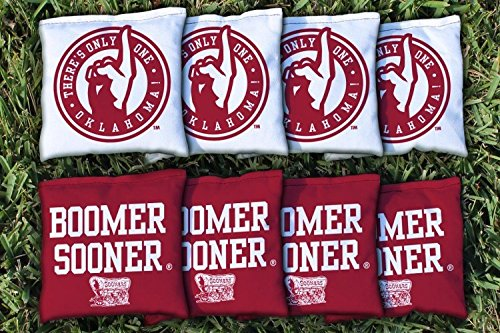 Victory Tailgate 8 Oklahoma Sooners Boomer Sooner Regulation All Weather Cornhole Bags