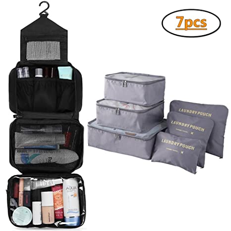 MONSTINA Travel Toiletry Bag And Storage Organizer Bag for Travel,Travel Packing Pouches BUS-KBXSBSNB