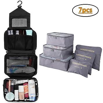 Amazon.com: Bolsa de aseo, bolsa de viaje plegable, portátil ...