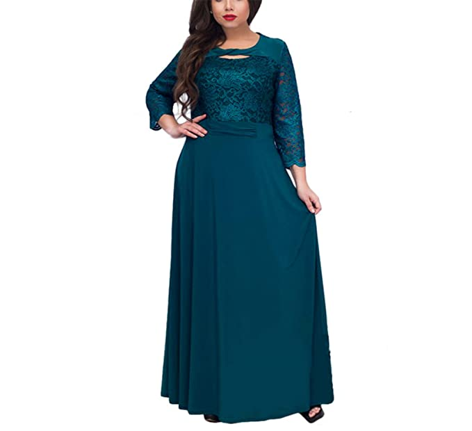 1e318a2bc04 Chiffoned 5XL 6XL New Women Long Dress Maxi Big Sizes Lace Patchwork ...
