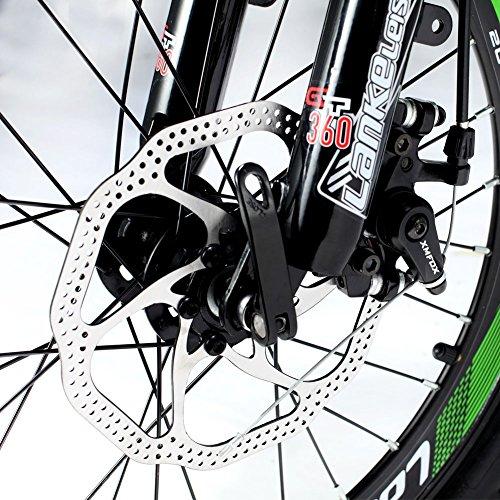 Extrbici XF500 eléctrico bicicleta plegable 20 pulgadas 50 cm estructura de aluminio de acero al carbono tenedor suspensión con bloqueo 250 W Hub motor 48 V ...