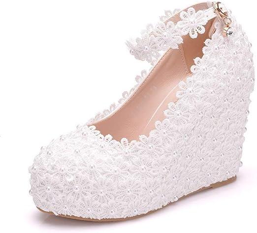 Rhykbgf Wedding Shoes Flash Cinderella Wedge Shoes 10 5 Cm Heel