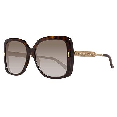 Gucci - Monture de lunettes - Femme Marron marron 57  Amazon.fr ... 66a072e56624