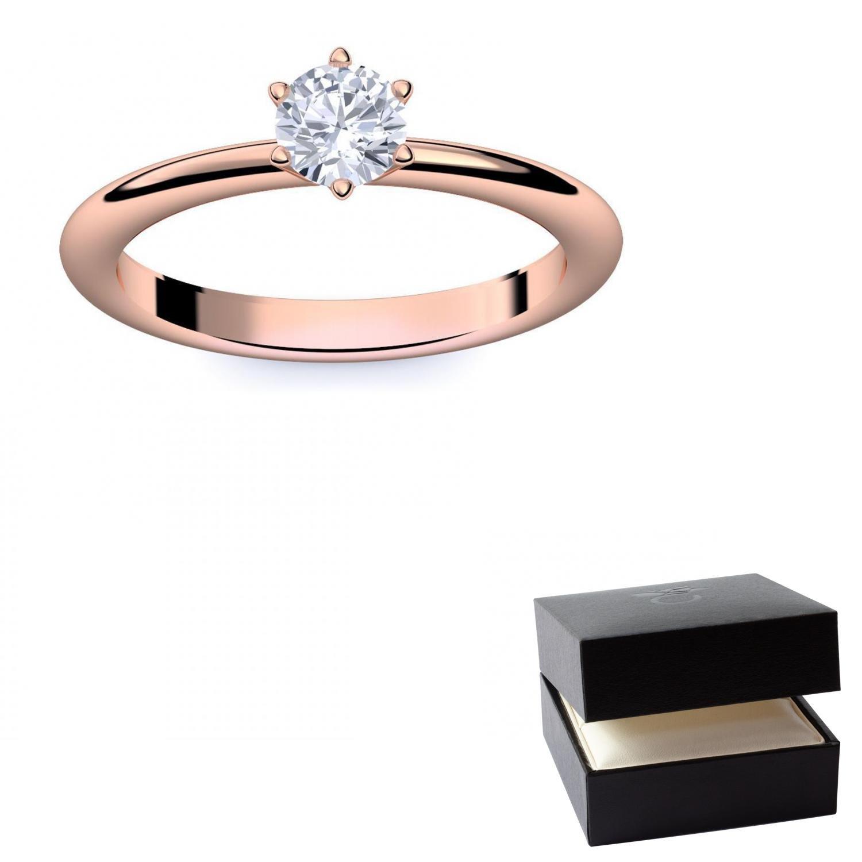 Diamantring rotgold  Verlobungsring Rotgold Ring Diamant 585 + inkl. Luxusetui + ...
