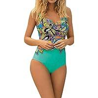 6124077eb19a5 Elogoog Women s One Piece Bathing Suit Tummy Control Print Swimsuit  Beachwear