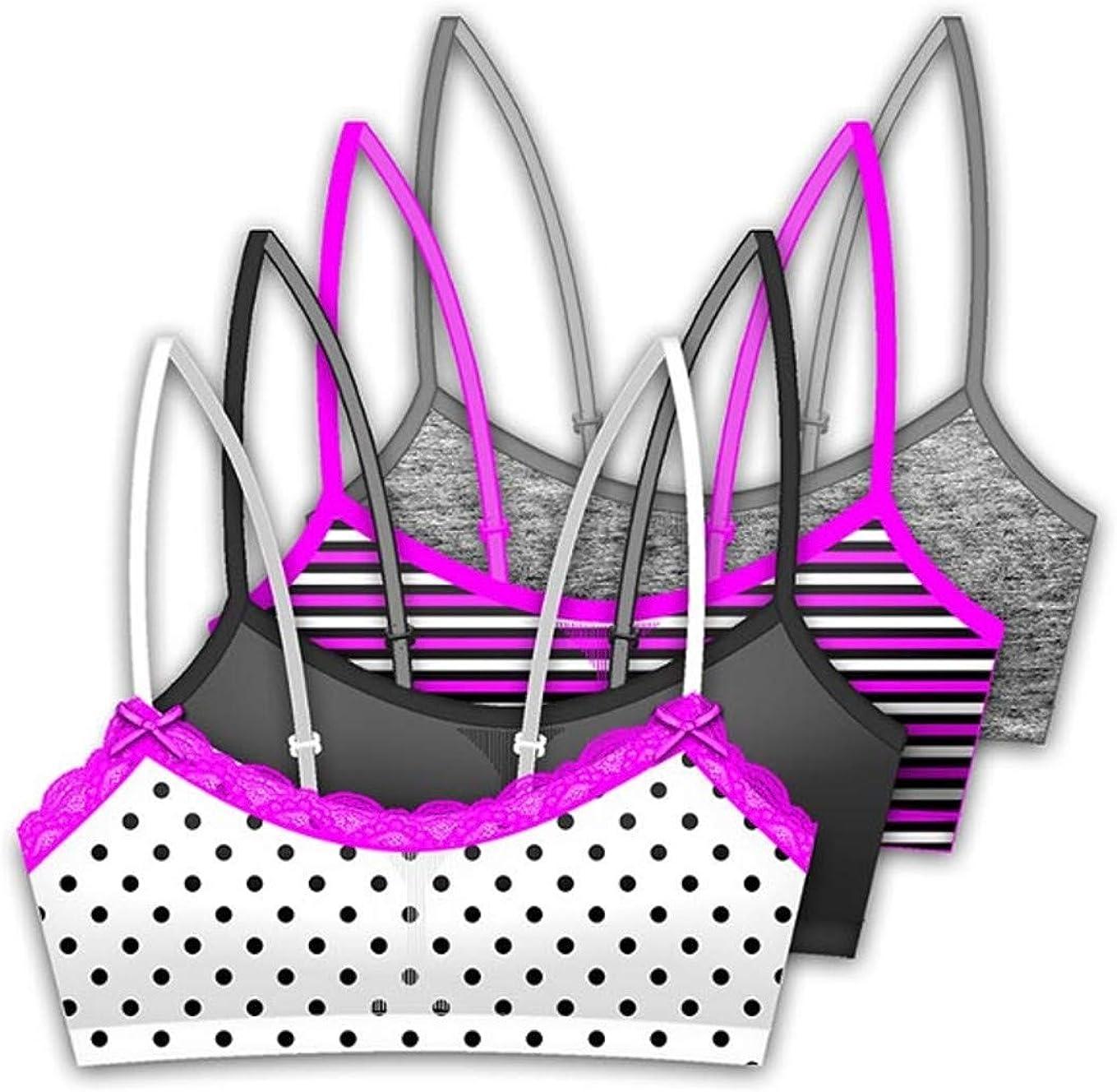 KatKat Clothing 4-Pack Training Bras for Girls