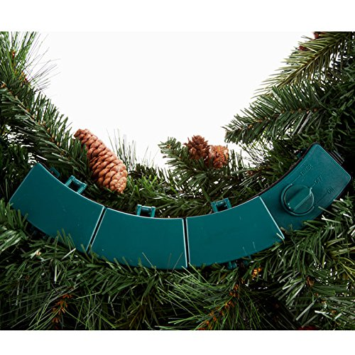 Cordless Pre-lit Cone & Berry Christmas Wreath by Brookstone (Image #5)