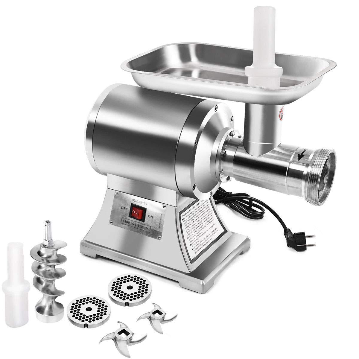 Tangkula Commercial Stainless Steel True 1HP Electric Meat Grinder No #12