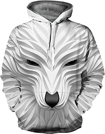 Unisex 3D Digital Printing Funny Creative Hoodies Sweatshirts