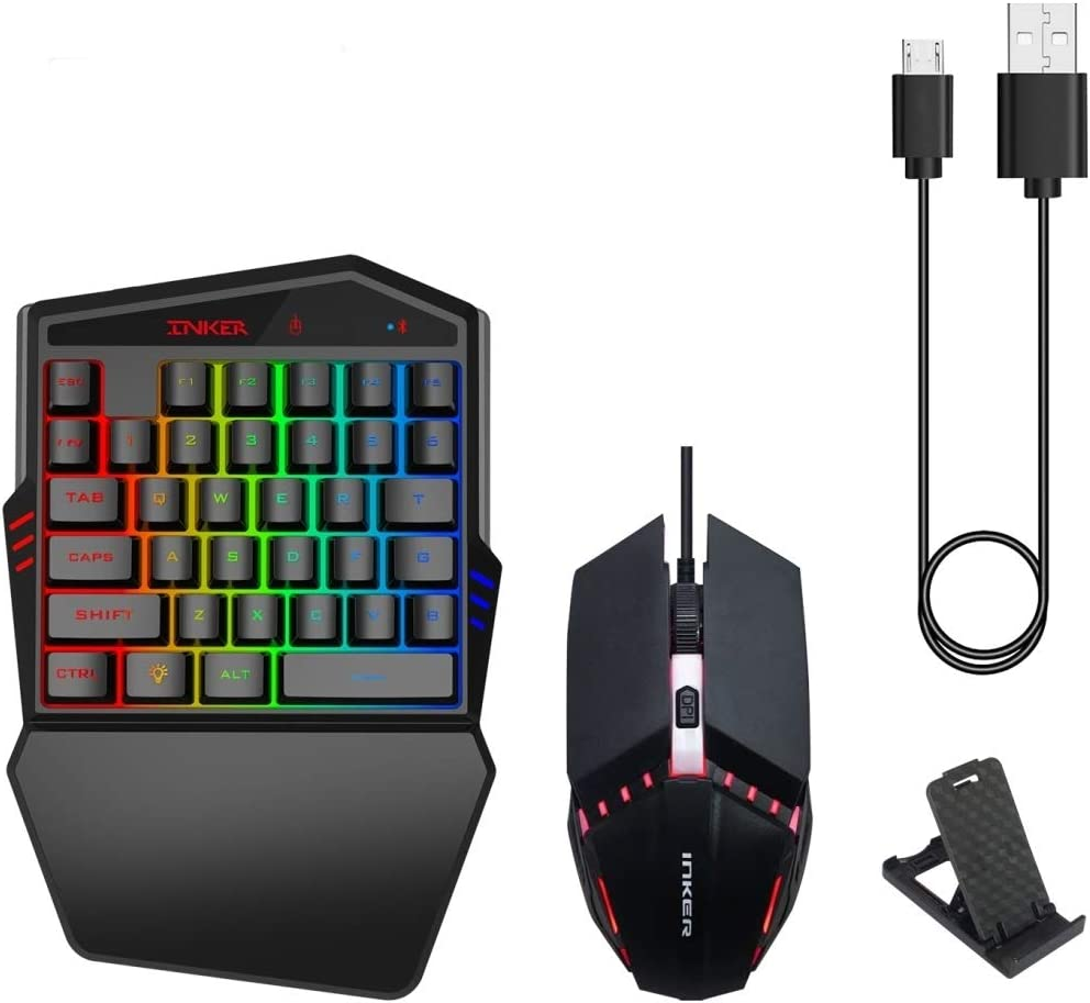 K99 Bluetooth 4.2 Mobile Game Keyboard Throne Mouse Set Durable