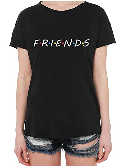 ee3f159db04a Amazon.com  Hokny TD-1 Women s Cute T Shirt Friends Printed Junior Tops  Teen Girls Graphic Tees  Clothing