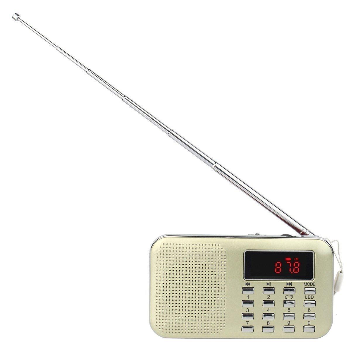 CSMARTE Mini Usb Portable AM//FM Radio Mp3 Music Player Speaker Support Micro SD//TF Card