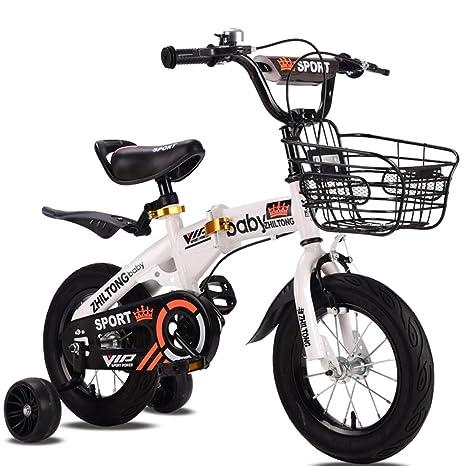 JYXZ Bicicleta De Niños por 2-4 Años Chicas Chicos 12