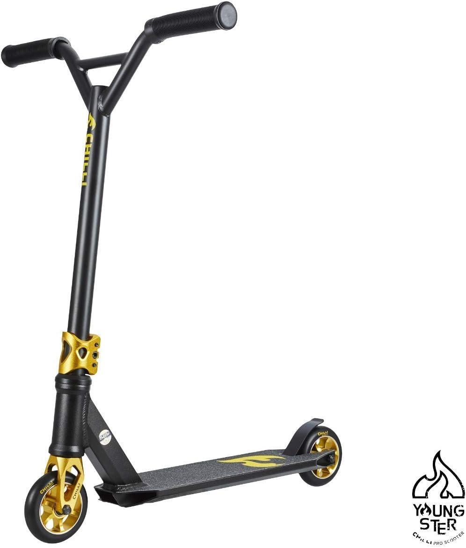 Chilli Pro Scooter 3000 Black | Gold-Schwarzer Kinder-Scooter optimal für Einsteiger kaufen