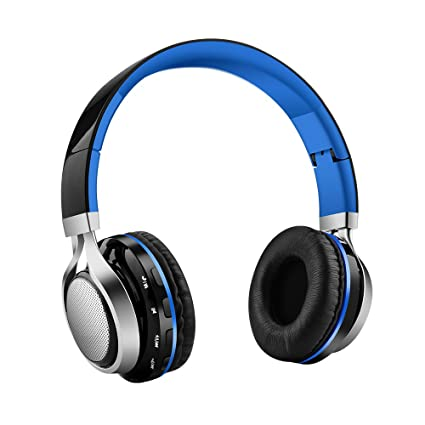 Aita Bluetooth Headphones Wireless Headset, Foldable On ear Headphones with FM Radio, Microphone,