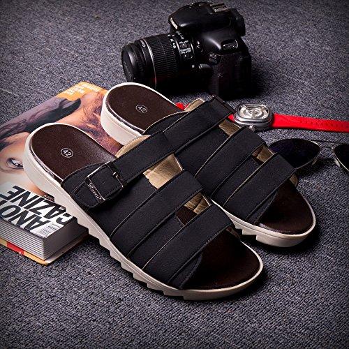 Xing Lin Sandalias De Hombre Tendencia De Verano Flip Flop Sandalias Atar Los Zapatos Zapatillas Zapatillas Nuevas Zapatillas De Playa De Moda Zapatos Zapatos De Hombre Negro 42082