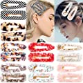 16pcs Acrylic Resin Hair Barrettes Gold Duckbill Totoise Clips Fashion Geometric Alligator Hair Clips For Women And Youngster Ladies Hair Accessories