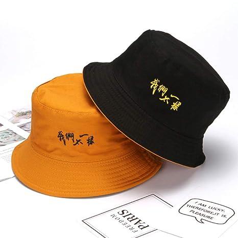 zlhcich Sombrero de Pescador Masculino de Doble Cara con Visera de ...