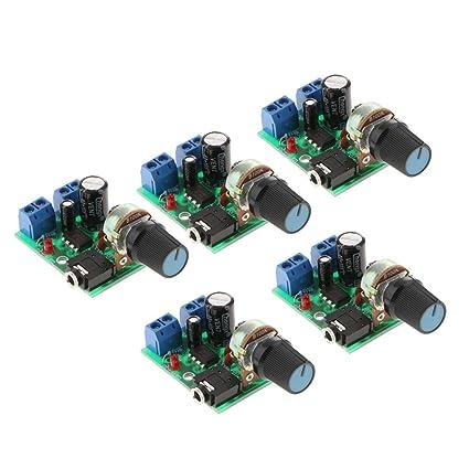 Amazon com: Flameer 5PCS LM386 Super Mini Audio Power