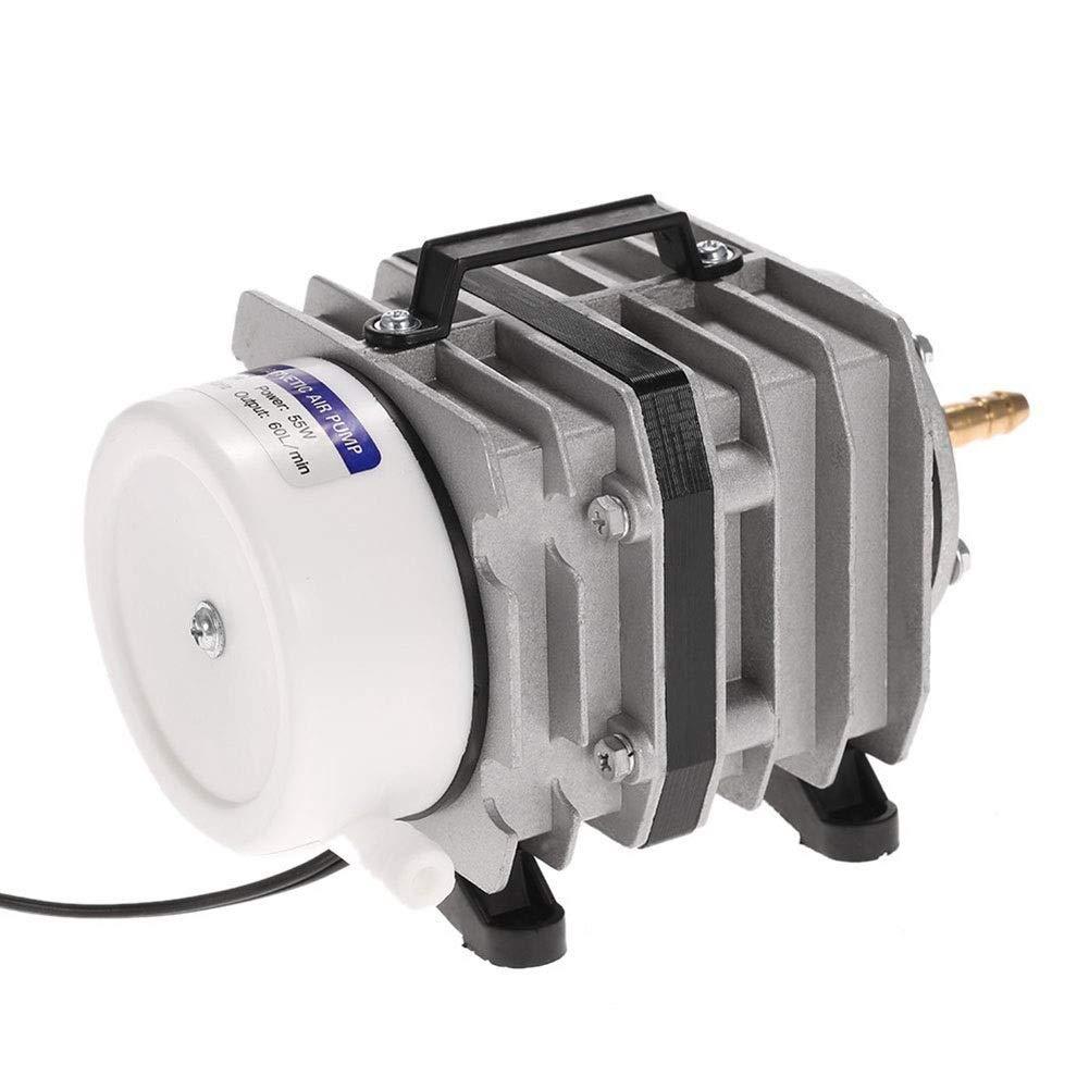 MC.PIG 水槽用エアポンプアクアリウムエアーポンプ220ボルト50リットル/分電磁エアコンプレッサーアクアリウムエアーポンプアクアフィッシュタンクバブルエアーポンプポータブルツール B07Q7BCMZP  ACO-006