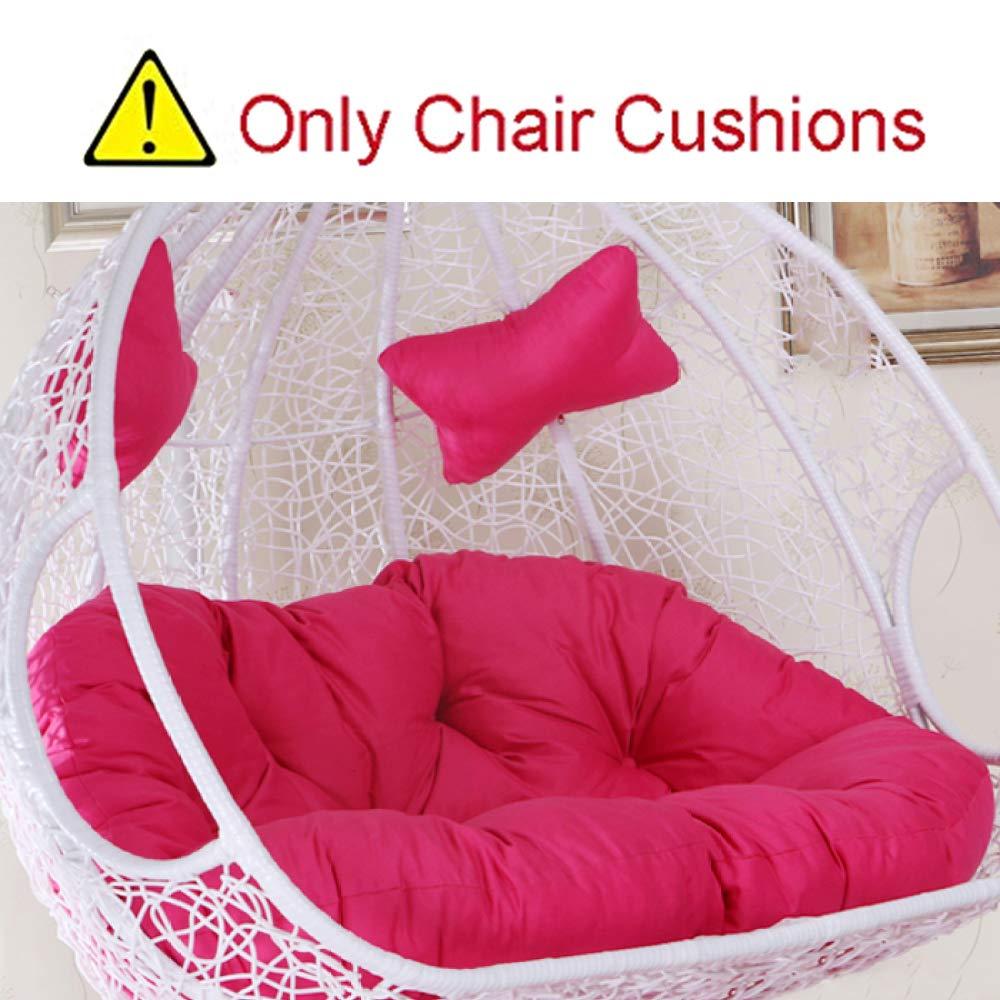 MonthYue Hanging Egg Swing Chair Cushions, Double Seat Cushion for Indoor Outdoor Patio Backyard Multi Color Thick Nest Hanging Chair Back with Pillow,Pink by MonthYue