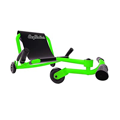 EzyRoller Classic - Neon Green - Ride On for Children Ages 4+ Years Old - New Twist on Scooter - Kids Move Using Right-Left Leg Movements to Push Foot Bar - Fun Play and Exercise for Boys and Girls : Sports & Outdoors