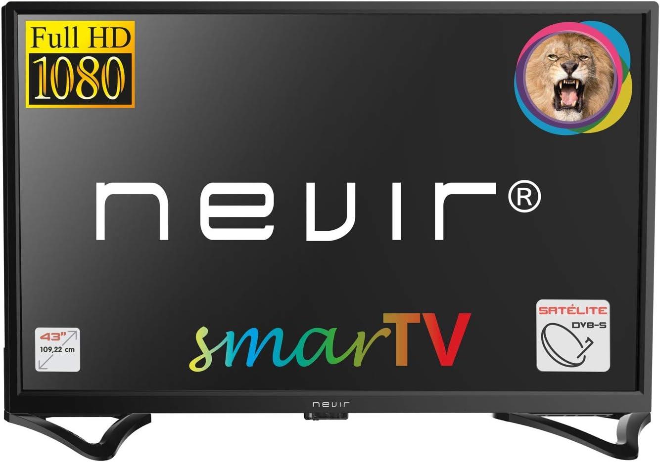 NEVIR NVR-8050-43FHD2S TELEVISOR 43 FHD SATELITE HDMI USB R Smart TV Android 7.1: BLOCK: Amazon.es: Electrónica