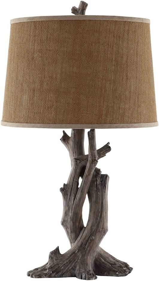 Stein World Furniture Cusworth Table Lamp, Antique Wood