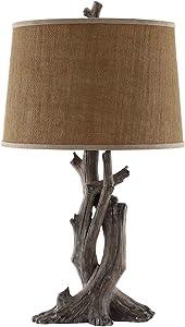 Stein World Furniture Cusworth Table Lamp, Antique Wood