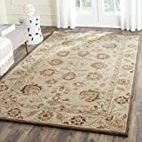 Safavieh Antiquities Collection AT812A Handmade Traditional Oriental Beige and Beige Wool Runner (2' 3 '' x 12')