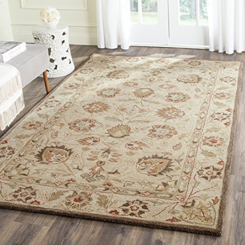 Safavieh Antiquities Collection AT812A Handmade Traditional Oriental Beige and Beige Wool Area Rug (3' x 5')