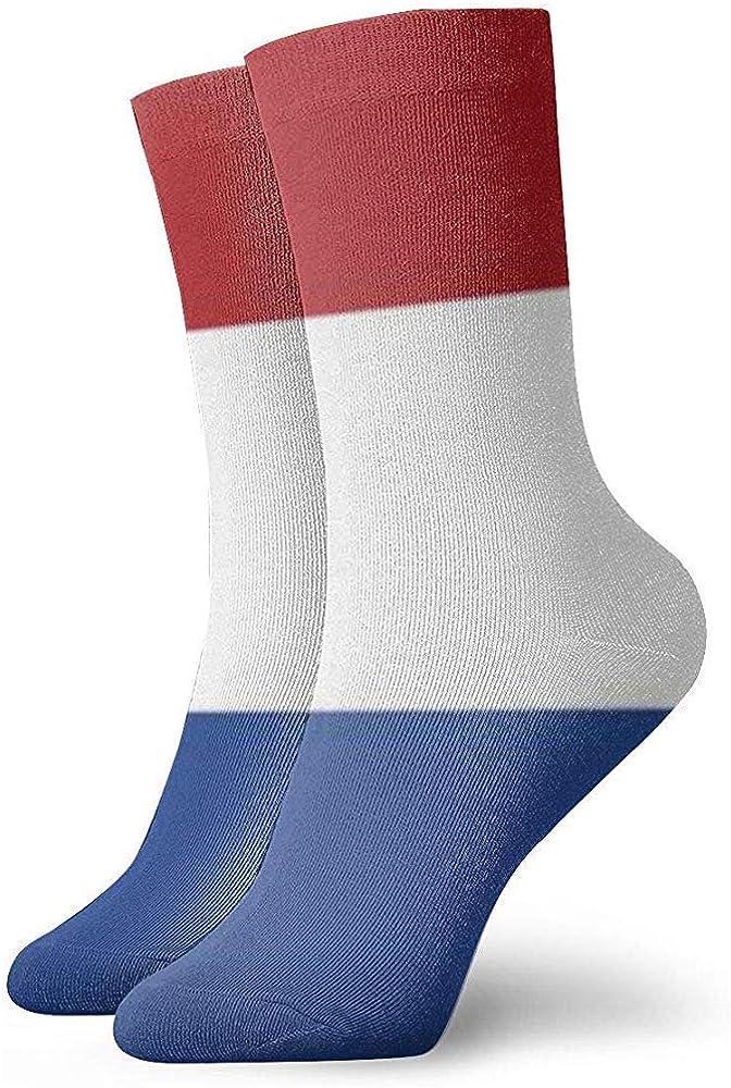 Adamitt Flagge der Niederlande Unisex Crew Socks Short Sports Stocking