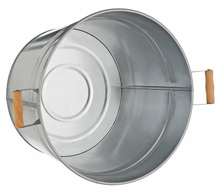 Dehner Pflanzkübel, Ø 36 cm, Höhe 25 cm, verzinkt, silber: Amazon ...