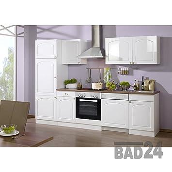 Küchenzeilen 280 Braga Inkl E Geräte Spülmaschine Hochglanz Weiß