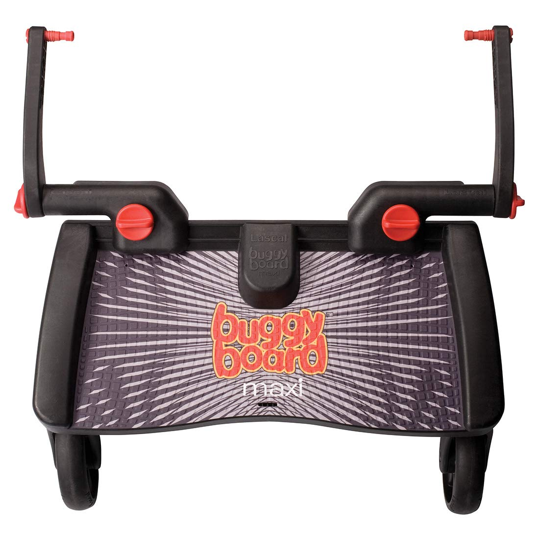 Lascal BuggyBoard Maxi, Black, Universal Ride-On Stroller Board, Fits More Strollers Than Any Other Board Using The Patented Universal Adapter, Quick ...
