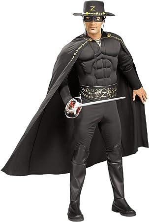 Disfraz musculoso de El Zorro para hombre Talla única: Amazon.es ...