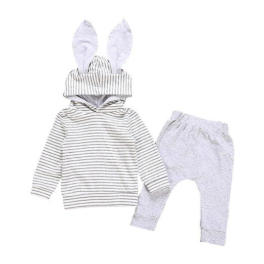 fb3b5a235 Amazon.com  Sagton Baby Girl Outfit Clothes Set