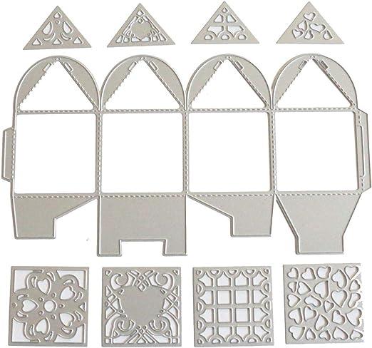 Troqueles de metal con forma de caja de regalo con forma de ...