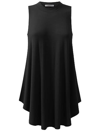 URBANCLEO Womens Basic Sleeveless eLong Tunic Tank Top (PLUS Size Available)