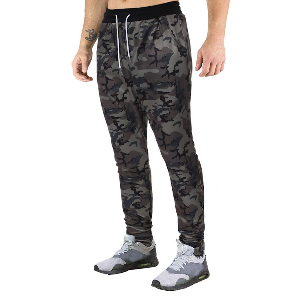 Jogger Pants for Men Slim Fit Workout Pants Running Training Sweatpants Casual Trouser Outdoor Hiking Sweatpants with Pockets S-2XL by VEZARON (Image #2)