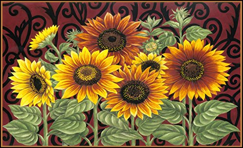 Sunflower Kitchen Rugs Amazon Com