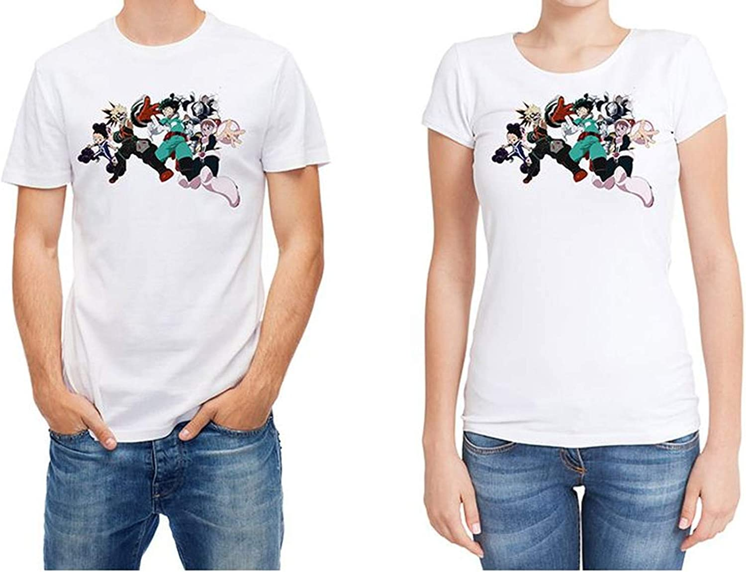 New Round Neck Boys Alike White Print T-Shirts Casual Tees # BTz013