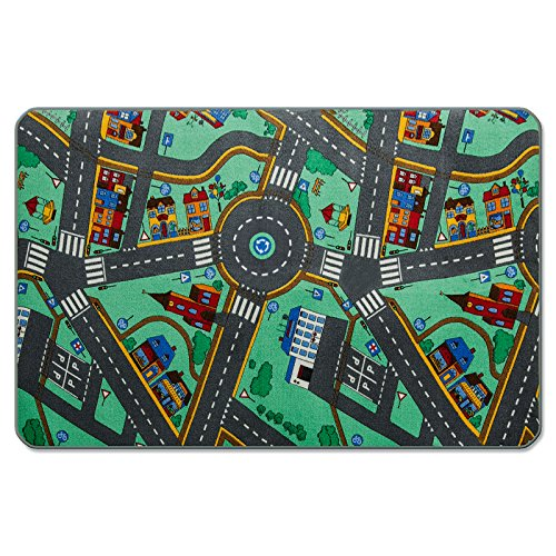 Kids Play Mat | Kids Rug for Playroom, Non Toxic Anti-Slip | Car Rug Play Mat Suitable for Bedrooms & Nursery | My Town - 32
