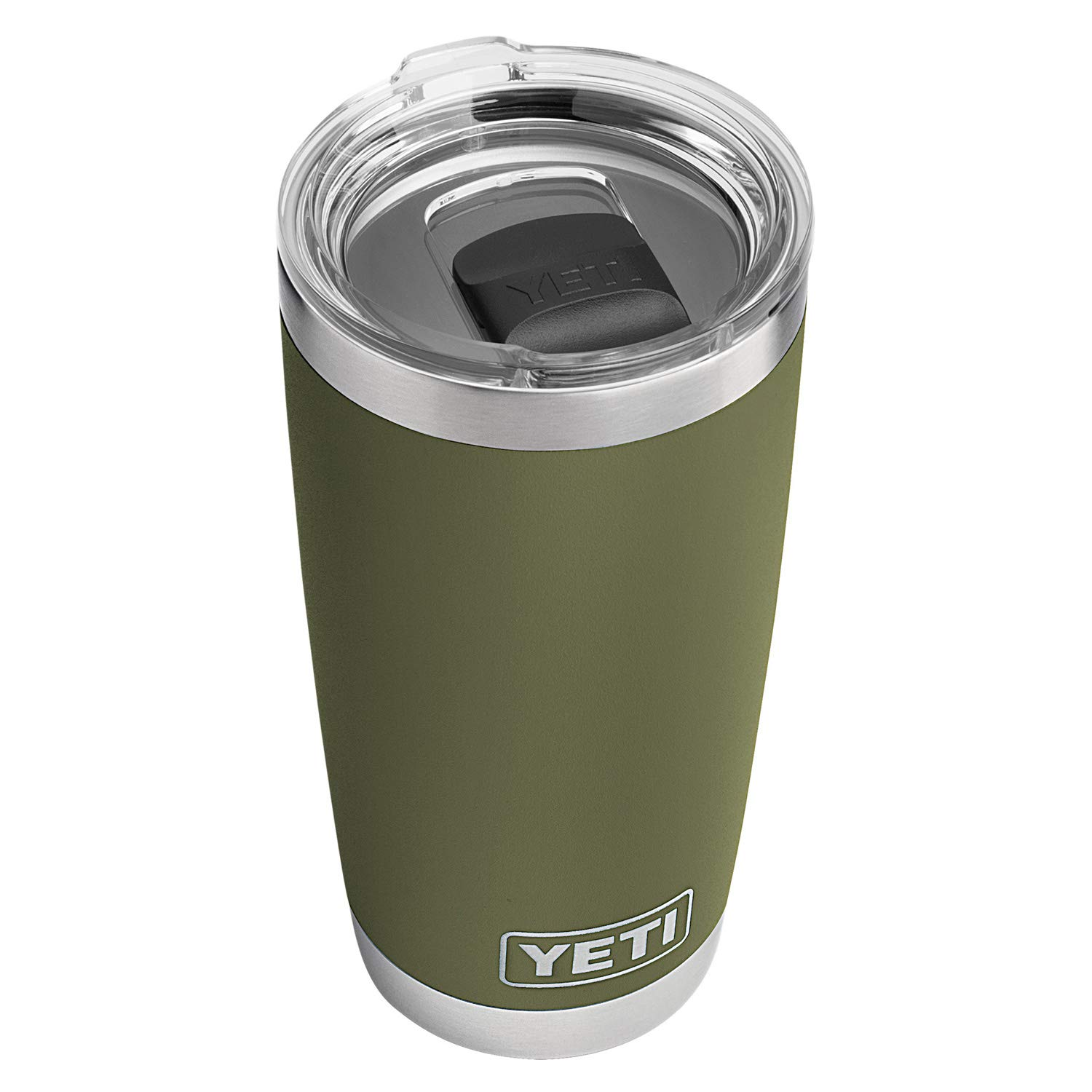 YETI Rambler 20 oz Stainless Steel Vacuum Insulated Tumbler w/MagSlider Lid, Olive Green