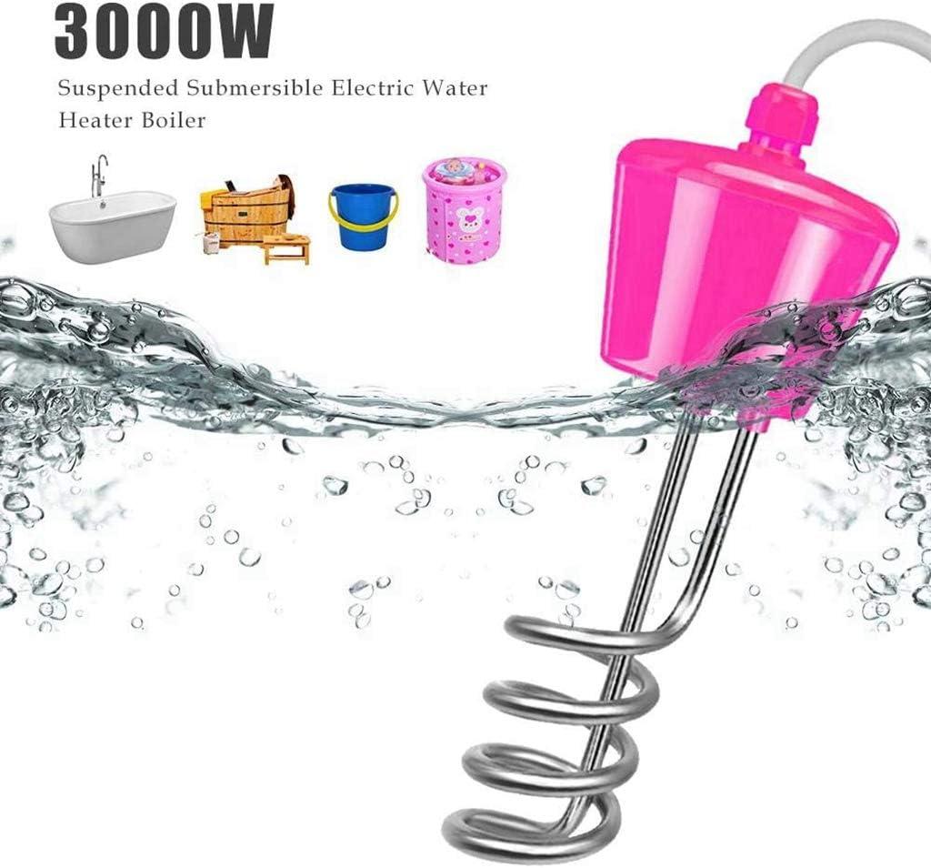 3000W 220V Reisetauchsieder Elektrischer Schwimmender Immersionselement-Warmwasserbereiter,Warmwasserbereiter F/ür Pool Mit Thermometer F/ür Eimer, EU