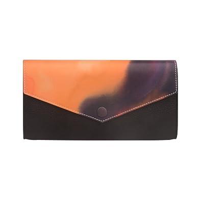 b991a6897dc1 Anifeel Women's Padlock Genuine Leather Multicolored Wallets Purse Billfold  Trifold