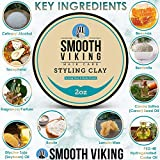 Smooth Viking Hair Clay for Men - Non-Greasy Hair